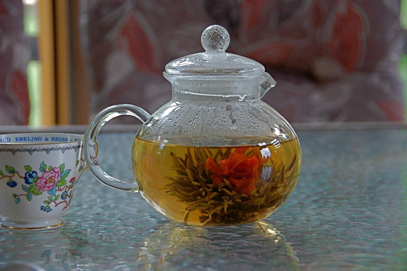 dragon lily flowering tea
